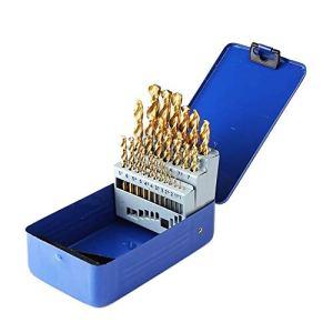 Diversité 25pcs Titane Enduit M42 Twist Mèche Cobalt Haut HSS Jeu de forets de qualité Industrielle for 1-13mm Bois Métal Acier Inoxydable Achevée (Color : Gold)