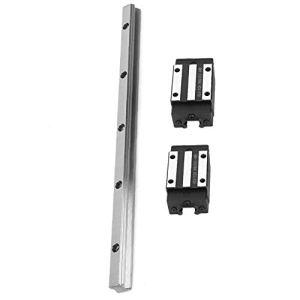 DXX-HR Guide Rail de guidage linéaire Set, haute précision 2pcs landaus Roulement bloc curseur + 1pc 300mm de guidage linéaire Rail for matériel électrique Outils de précision machine