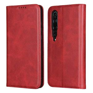Étui de protection à rabat pour Xiaomi 10 Rouge