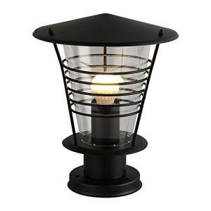 FENGLIAN Creative Modernes Paysage en Acier Inoxydable Lumières extérieur Simple Pilier décoratif Stake Lampe de pelouse Lampes Villa Jardin Rouille Colonne Lampe Backyard Lampadaire (Color : Black)