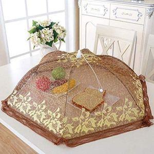 Fingertoys Cache-plat pliable en fil doré Idéal pour la maison ou l'extérieur café