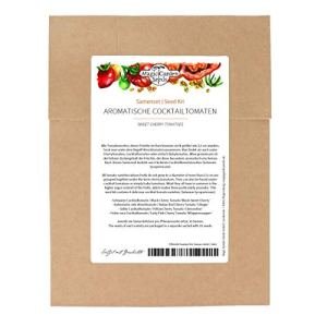 Graines de tomates cocktail aromatiques – Lot de 4 délicieuses tomates cerises Kit de base.