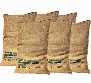 Grands Sacs en Jute de café recyclé -Paquet de 6 unités de 70X100 60Kg – Idéal pour jardín- hivernage -Cuisine – Toile de Jute écologique Naturelle 100%.
