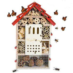 HelpAccess Insect House : hôtel pour Insectes, Aide à la Nidification et Protection des Insectes (Maison d'insectes kit)
