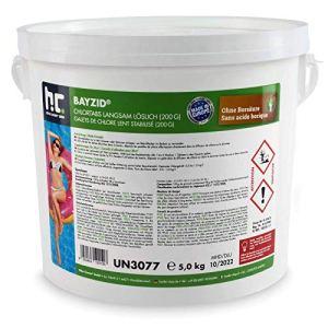 Höfer Chemie 5 kg 200g Galets de chlore lent pour piscine – chloration permanente de la piscine – HAUTEMENT EFFICACE contre les bactéries