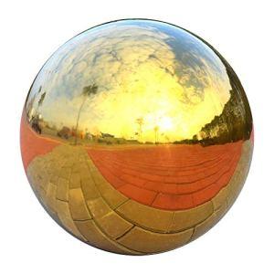 HomDSim. Boule de Miroir en Forme de Globe en Acier Inoxydable Poli et réfléchissant 58 cm de diamètre, idéal pour Tout Jardin ou Maison.