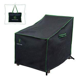 Housses de chaise de patio, housse de chaise de salon profonde, robuste, durable, résistante aux intempéries, imperméable et résistante aux UV, gris Moderne 35″W x 39″D x 36″H gris