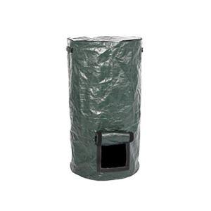 Hughdy Sac de compost en polyéthylène écologique – Vert foncé