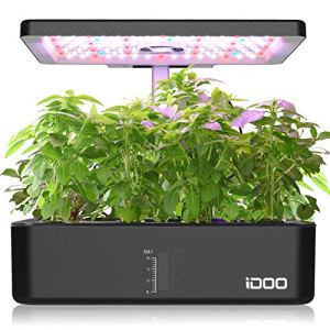 iDOO Jardin d'herbes hydroponique, Kit de Jardin D'herbes D'intérieur 12Pods avec éclairage LED Grow, Jardinière Intelligente avec minuterie Automatique, Potager hydroponique à réglable en Hauteur