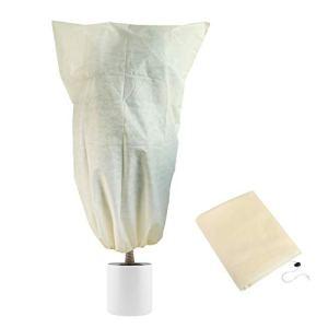 LIHAO Housse d'Hivernage pour Plantes, Housse de Protection pour Plantes en Hiver, Tissu Non Tissée 60 g/m², 180×120 cm