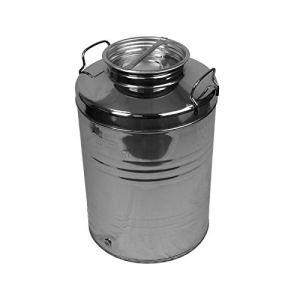 Linxor France ® Fût alimentaire en inox avec robinet pour huile d'olive ou autre – 50L – Norme CE