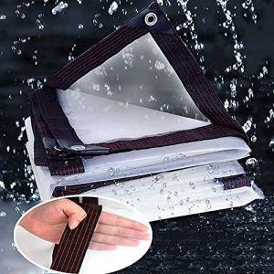 LKJHG Bâche Imperméable Transparente en Tissu De Pluie épaissie Balcon Coupe-Vent Feuille De Plastique Chaude Et Hydratante (Couleur: Transparent, Taille: 300x300cm)(Size:500x500cm,Color:Clair)