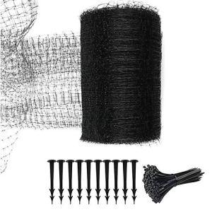 LouisaYork Filet de protection réutilisable pour oiseaux avec 10 clous d'installation, 50 attaches de câble pour jardin, maille tissée pour plantes, fruits
