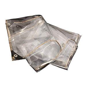 LYUE Bâche Transparent Tissu PVC Balcon Pare-Brise Abri De La Pluie Protection Solaire Épaissir bâche(Size:2X2M)