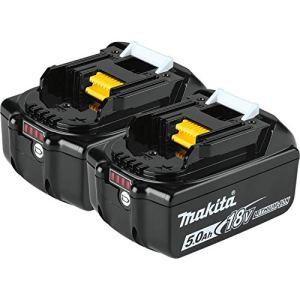 makita batterie makita bl1850b li-ion 18v / 5 ah (témoin de charge intègré)