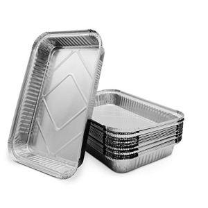 Mamatura XL bacs à égouttures en aluminium | 25 bac récepteur en aluminium | 32 x 22 cm, 2100 ml | grand, rectangulaire, résistant à la chaleur