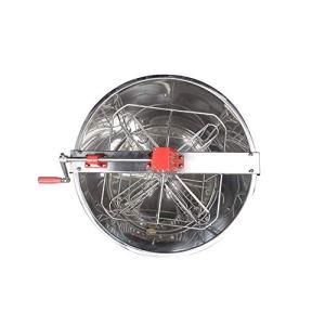 MINGMIN-DZ Durable 4 boîtes Outils manuels Auto-Clamshell Pur Miel Spleen Secouer en Acier Inoxydable Machine Apiculture Seaux centrifuger