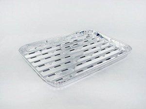 Noblesse Contrebande jetables en Aluminium Grande BBQ Saine Griller Rôtissoire Poêles, w/Fente Trous, 22,9x 34,3x 3,2cm, 24-Pack