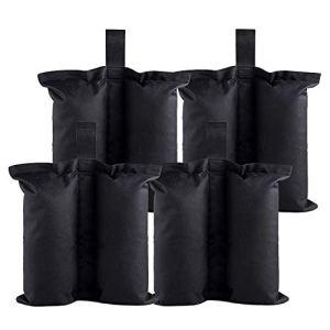 Octonesan Lot de 4 Poids de Sac de Poids pour Tente Pliante, Sac de Sable pour extérieur (sans Sable)