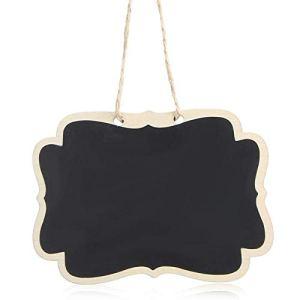 Omabeta Étiquette d'usine de Tableau Noir de Tableau Noir Suspendu Panneau de Message léger sûr pour écrire des Messages