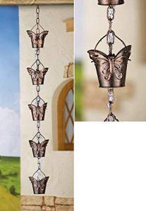Papillon décoratif fer Chaîne de pluie