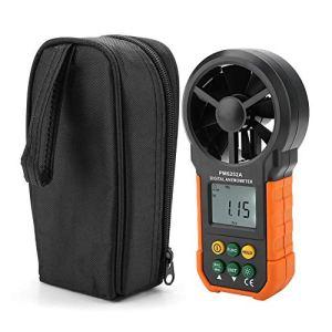PEAKMETER PM6252A Anémomètre de Mesure du Débit d'Air Professionnel, Compteur de Vitesse du Vent Numérique Portable avec Indicateur de Batterie Faible