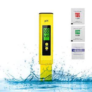 PH Mètre Electronique Piscine, Testeur PH Numérique Portable Lecteur Résolution 0,01pH, Test avec 0-14 pH Plage de Mesure avec ATC pour l'eau Potable, Piscines, Aquariums, Hydroponie