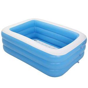 Piscine gonflable rectangulaire pour enfants, bleu été