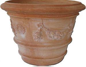 Pot de Fleurs en Terre Cuite résistant à la Rouille Siena Conca Con Festone XXL 110cm Festone