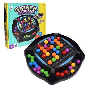 Rainbow Ball Elimination Game, jeu de réflexion, balle arc-en-ciel, matching amusant, jeu de matching avec 48 perles colorées, jeu d'échecs, jouets pour parents et enfants