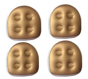 Rehausseur de Bain avec 5 ventouses Solides – Coussin Gonflable et imperméable – Tapis de Massage rempli – Tapis de Massage rembourré – Soutien du Dos – Coussin de Bain pour Adultes