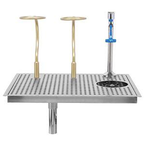 Rinceur à Verre, Rondelle de Tasse en Acier Inoxydable Automatique avec Support de Tasse de Filtre Robinet Type Poussoir pour Restaurant Bar Café