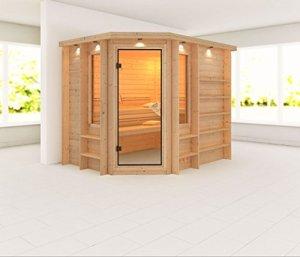 RIONA–Karibu Sauna Premium avec four de 9kW