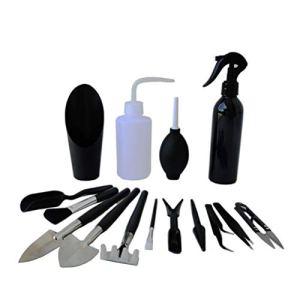 Sarari Lot de 15 mini outils de jardinage pour plantes succulentes