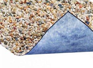 Steinfolie 120cm breit für Teichrand und Bachlauf