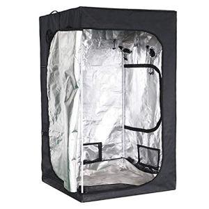 Tente de culture d'intérieur avec fenêtre d'observation, tente de culture hydroponique en mylar réfléchissant avec sac à outils, pour la culture des plantes en intérieur, 6060140 cm
