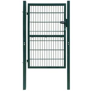 Tidyard Portillon de Jardin | Clôture de Jardin | Porte de Jardin 2D (Single) Vert 106 x 190 cm