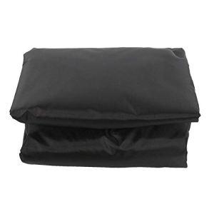 TopinCN Housse de rechange pour balancelle en tissu Oxford résistant à la pluie et à la poussière Noir