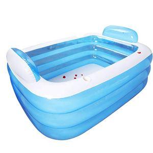 TTSN Piscine gonflable, 2020, double baignoire, économie d'espace, piscine centrale pour jardin, cour, fête sur l'eau d'été, 180 x 140 x 60 cm