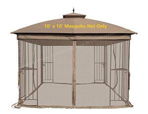 Universel 10'x 10' Tonnelle de remplacement de moustiquaire–Marron
