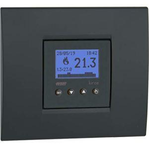 VEMER VE780000 Kiros Thermostat hebdomadaire encastrable de Taille compacte, Alimentation 230 V. Couleur Blanc ou Gris Anthracite