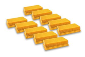 vhbw Lot de 10 filtres plats de rechange pour Kärcher 6.904-206.0, 6.904-176.0, 6.904-190.0, 6.904-287.0, 6.904-360.0, 6.907-012-0, 6.907-455.0