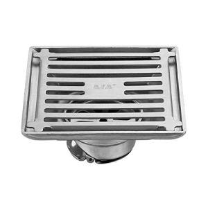 Voixy Siphon de Sol Grille Drainage pour Salle de Bain Cuisine Balcon en Acier Inoxydable 304 12×12 cm Motif Valve
