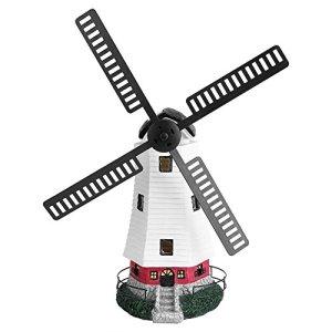 Wakects Regardez Les Moulins à Vent de Jardin, Les Moulins à Vent Automatiques Solaires avec des Lumières LED, Les LumièRes Décoratives Solaires pour Les Jardins, Les Terrasses et Les Balcons