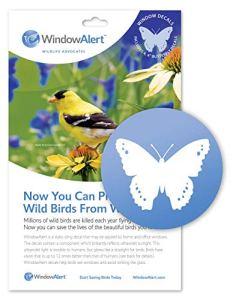 WindowAlert Autocollants en forme de papillon.