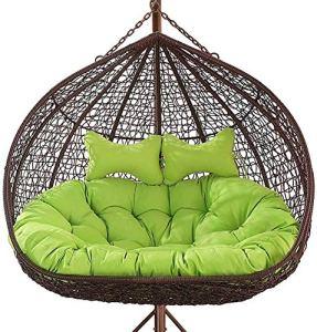 Wyxy Coussin de Chaise d'oeufs Suspendus rembourrés, Coussin épaissir pour Double Personne, Coussin d'oscillation de hamac de Causeuse pour la pelouse d'arrière-Cour de Patio de Balcon