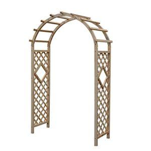 XCJJ Arche de jardin, treillis extérieur en bois Arbor Arch, sapin naturel, processus de carbonisation, imperméable à l'eau, preuve d'insectes, bois de sapin de jardin sur un treillis de pergola de p