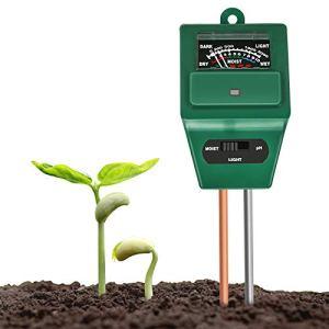 Xddias Testeur de Sol, testeur de Mesure de l'acidité de l'humidité/lumière/pH 3 en 1, hygromètre de Surveillance de l'eau du Sol pour l'entretien du Jardin, la Ferme, la pelouse et la Maison