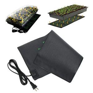 XIJING Coussin Chauffant pour Plantes 110 / 220V / Tapis Chauffant de semis Durable imperméable/Tapis Chauds pour la Propagation de la Germination des Fleurs de graines de Serre,52X52cm