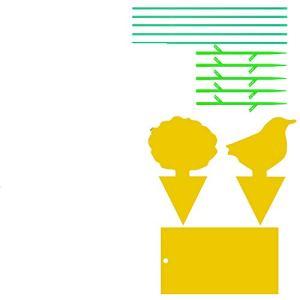 YHmall 30pcs Pièges à Insectes Pièges Engluées Autocollants Colle Double-Face Étanche Jaunes Attrape Mouches Pucerons Blanches pour Jardin Plante Fleur Fruits (3 Formes)